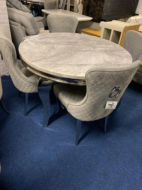 Florence 1.2m Round Dining Table plus 4 Florence Dining Chairs