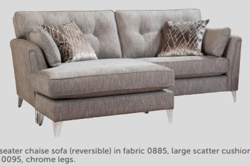 Evie Grand Sofa with Chaise  by Alstons Upholstery