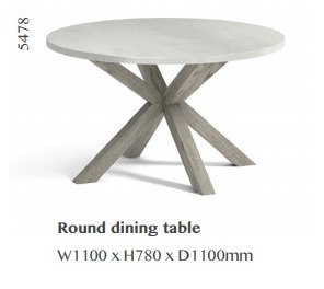 Docklands Round Dining Table