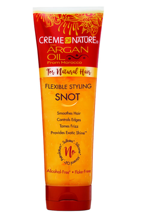 CREME OF NATURE ARGAN OIL FLEXIBLE STYLING SNOT (8.4oz)
