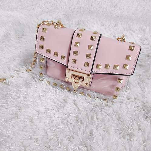 Studded Clear Bag