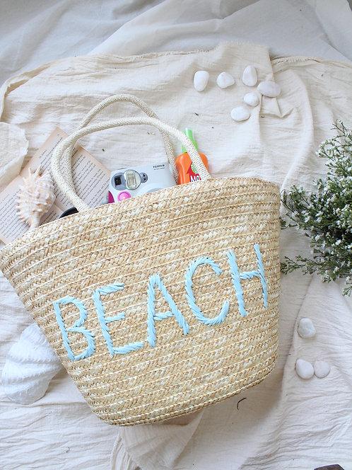 Beach Hand Made Straw Tote Bag