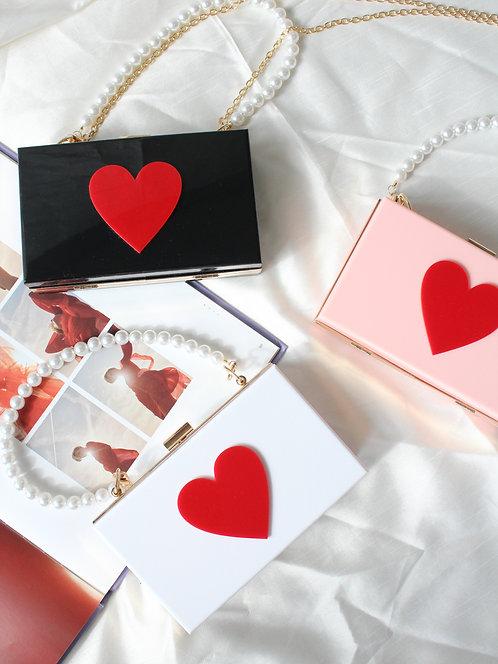 Love Box Acrylic Crossbody Bag