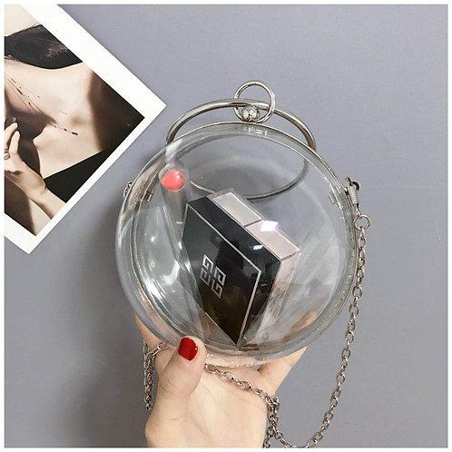 Clear Acrylic Sphere Clutch/Cross Body Bag