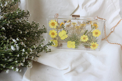 Flora Bag with Sun Dried Flower Detail