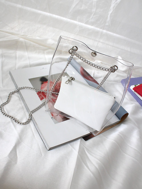 Clear PVC Tote Bag