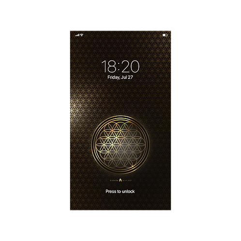 Flower Of Life Gold - Wallpaper for Smartphone