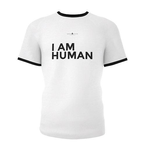 Ringer T-Shirt I AM HUMAN