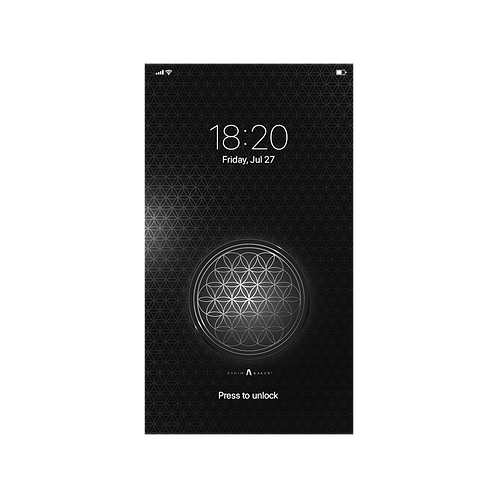 Flower Of Life Silver - Wallpaper for Smartphone