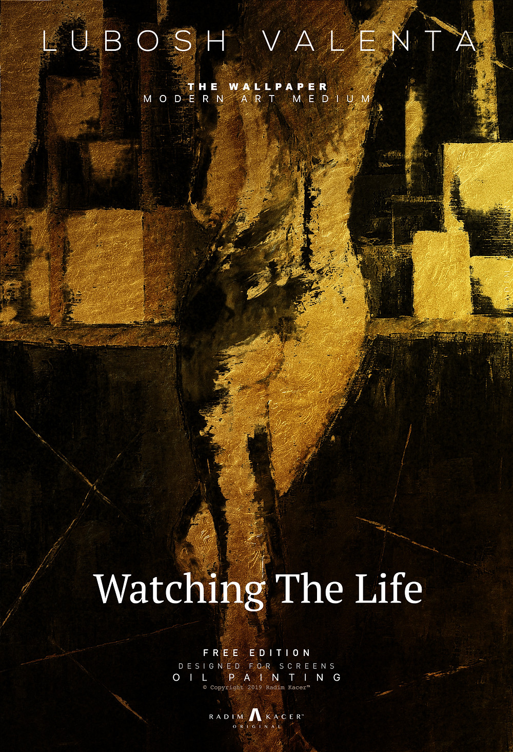 Lubosh Valenta - Watching The Life, Oil painting wallpaper