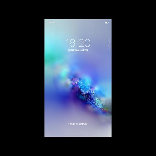 Blue Nebula Wallpaper for Smartphone