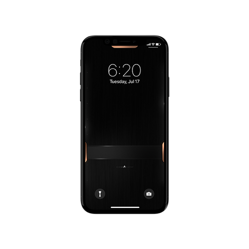 Black Steel - Wallpaper for iPhone X
