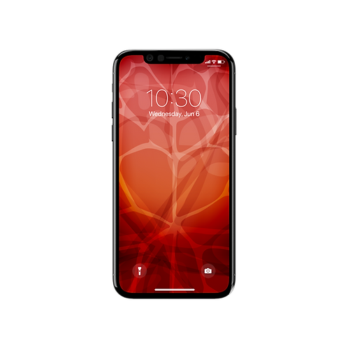 Red Code Blossom Wallpaper iPhone X