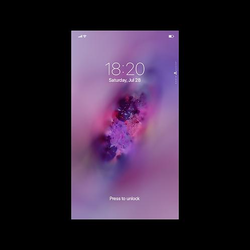 Violet Nebula Wallpaper for Smartphone