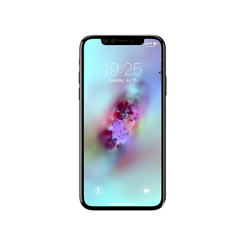 Bright Nebula Abstract Wallpaper for Apple iPhone X