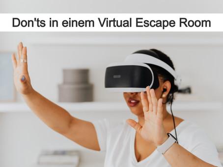 Don'ts in einem Virtual Escape Room