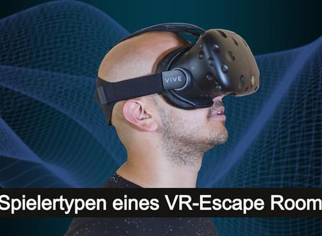 4 Spielertypen eines VR Escape Rooms