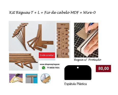 kit cartonagem Reguas T + Reguas L +Fio de cab+wire-o