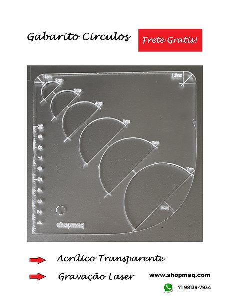 Régua Gabarito Curvas Multiplas