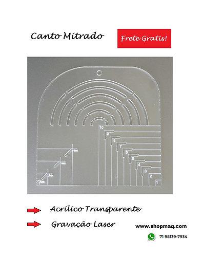 Regua Gabarito Curva Quadrado Caixa de Leite Canto Mitrado 20cm
