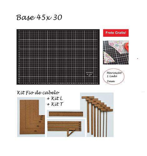 Base De Corte 45x30 A3 + Reguas Encadernação, Fio De Cabelo