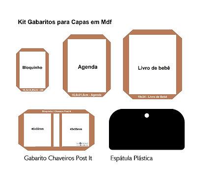 Gabarito Capas + Chaveiro Post-it + Espátula Plástica