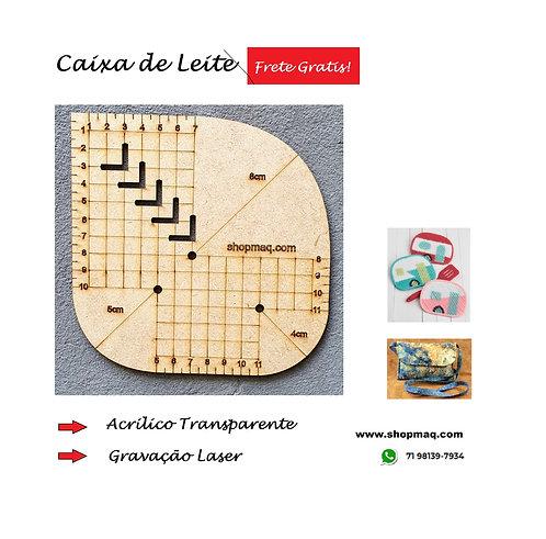 Régua Gabarito Caixa Leite MDF Patchwork