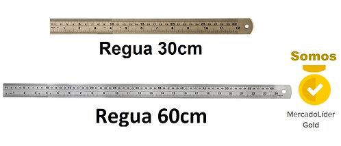 Regua de Metal 60cm + regua de Metal 30cm