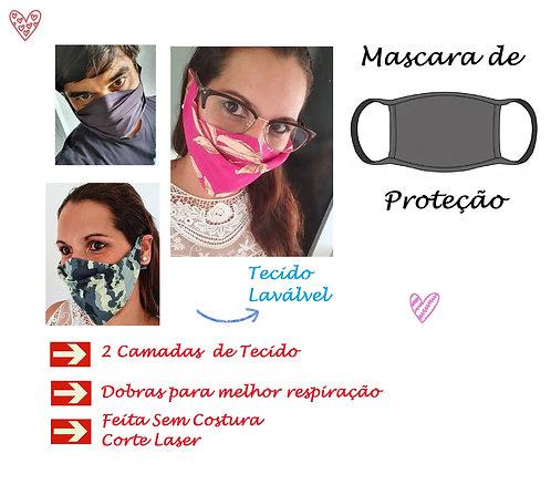 16 Mascaras de Proteção 2 camadas tecido Lavavel sem costura