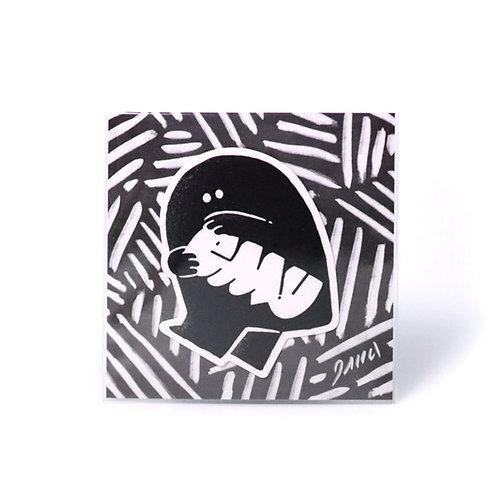 "EMU sticker ""KAKAERU"""