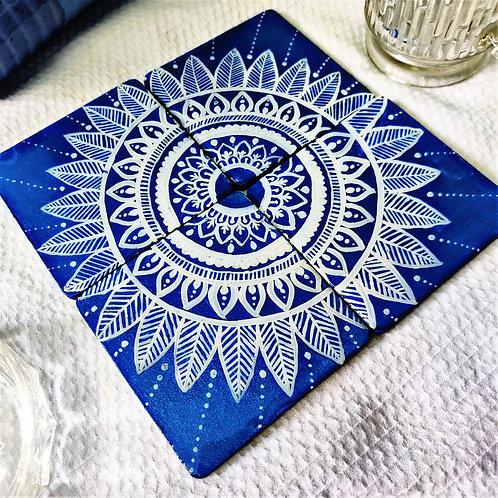 BLUE MANDALA COASTERS