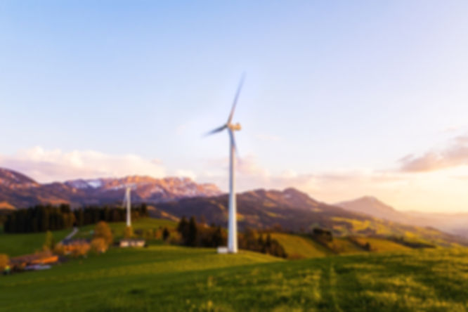 wind turbine and landscape - beinfluence campaign