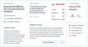 Sharepoint clients review on Clutch