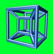 Rotating Tesseract Green Screen