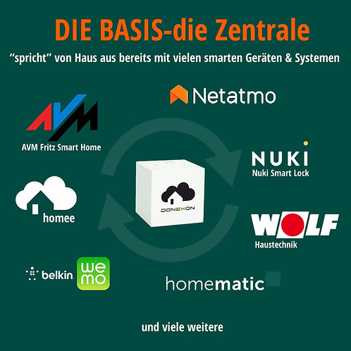 """Smart Home Basis Zentrale """"domo"""" IP/WLAN - eine für alles!"""