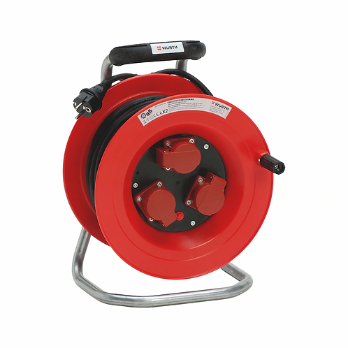 Würth Kunststoff-Kabeltrommel für Profis 250 V H07RN-F 3G1,5 mm² 25 Meter