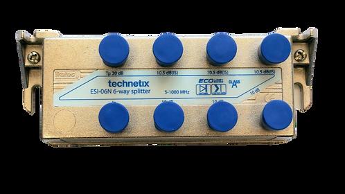 Technetix ESI-06N 6-way Splitter, 6-Fach Verteiler, 5-1000 Mhz, Koax