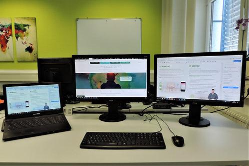 Komplettpaket Homeoffice u. Arbeitsplatz  Notebook, zwei Monitore,Dockingstation