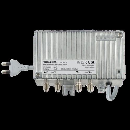 Kathrein VOS 43/RA Hausanschluss-Verstärker  34-40dB Verstärkung, eingebautes Ne