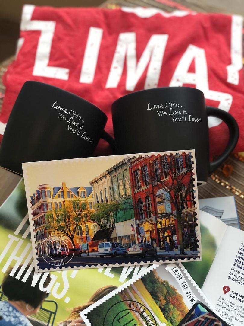 Lima, Ohio Postcards $.25