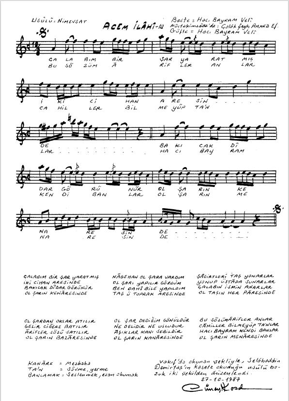Nota Arşivi - Ney Notaları - Çalab'ım bir şar yaratmış.PNG