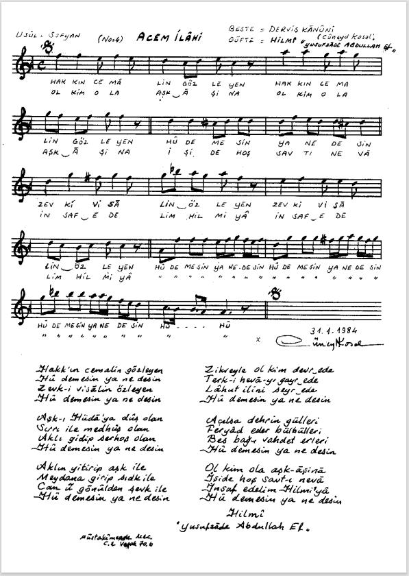 Nota Arşivi - Ney Notaları - Hakk'ın cemâlin gözleyen.PNG