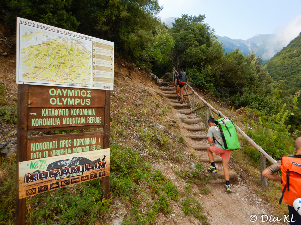 Olympos, Greece, Orlias canyon, canyoning, start of the trail