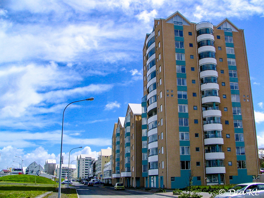 A block of flats in Reykjavik, Iceland, year 2006