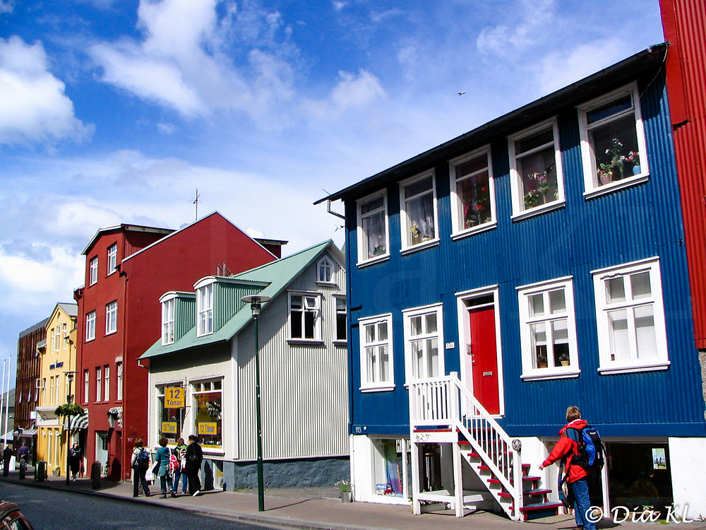 Colorful houses in Reykjavik, Iceland, year 2006
