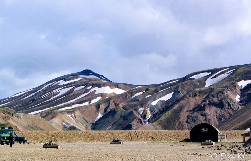 Iceland, interior, Landmannalaugar, camping site