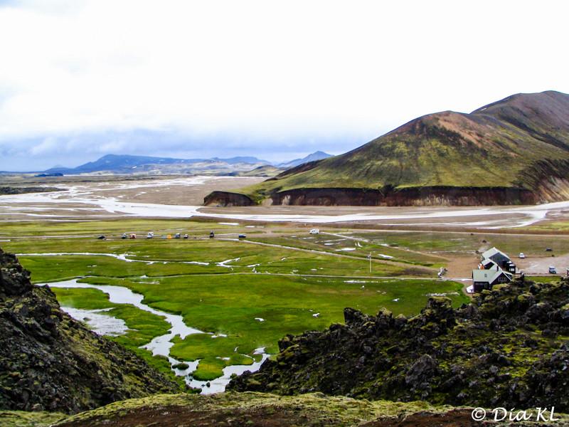 Iceland 2006, Laugavegur trek Day1, Landmannalaugar to Hrafntinnusker (12km), view of