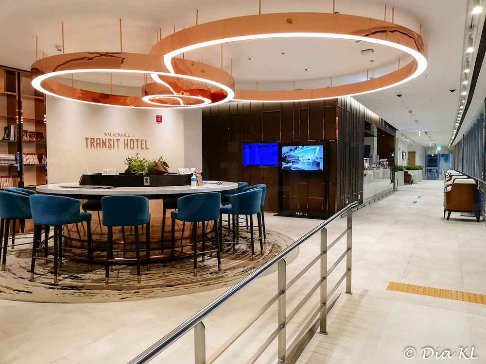 Transit Hotel lobby in Terminal 2, Incheon international airport, South Korea. January 2021. Covid19 pandemic second wave.