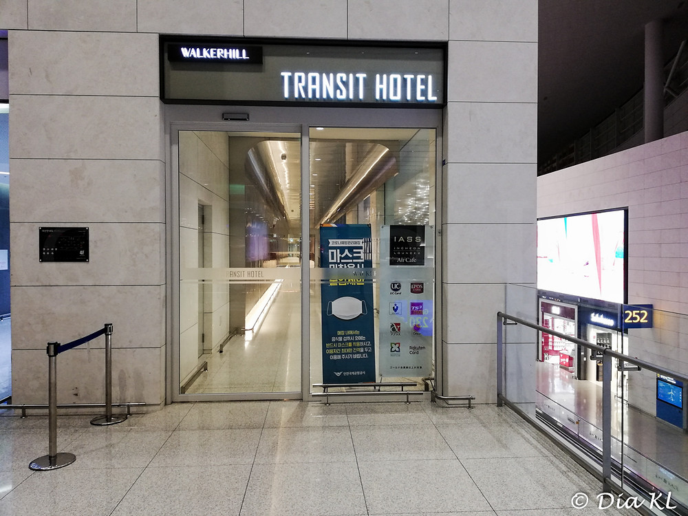 Transit Hotel in Terminal 2, Incheon international airport, South Korea. January 2021. Covid19 pandemic second wave.