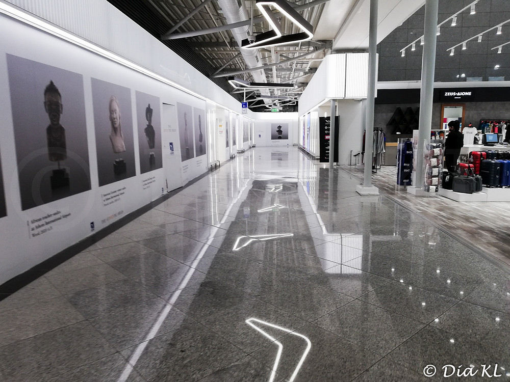 Athens Eleftherios Venizelos airport, Greece. January 2021. Covid 19 pandemic second wave.